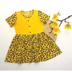 КР18-22 Платье жёлтый леопард