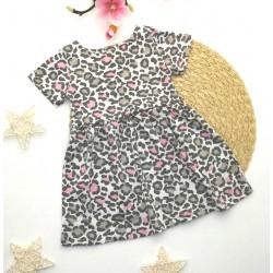 КР18-4 Платье розовый леопард