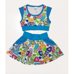 КЛ11-10 Топ+юбка (кулирка с лайкрой)
