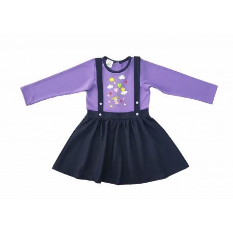 Д(А)19-15 Платье с накатом (джинс)